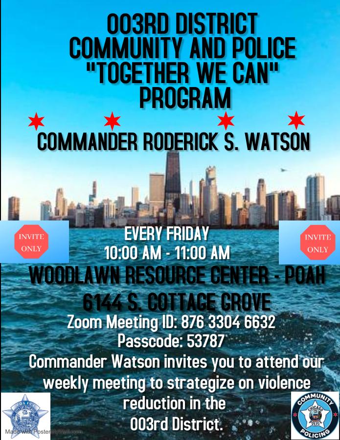 REVISED Flyer- Community & Police Together We Can